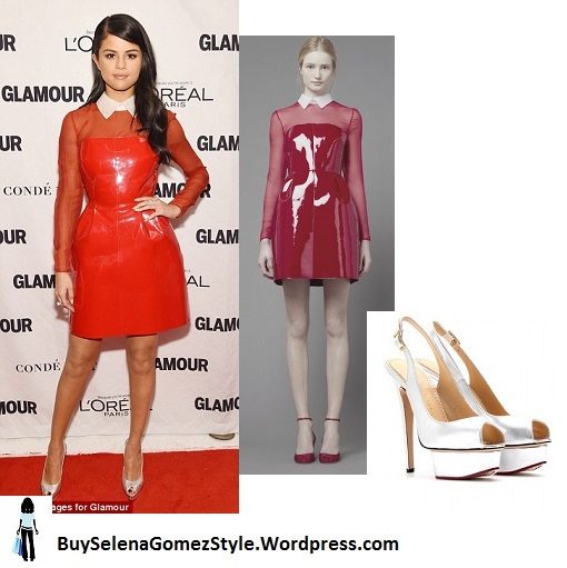 Selena Gomez red dress Glamour awards 2015 instagram