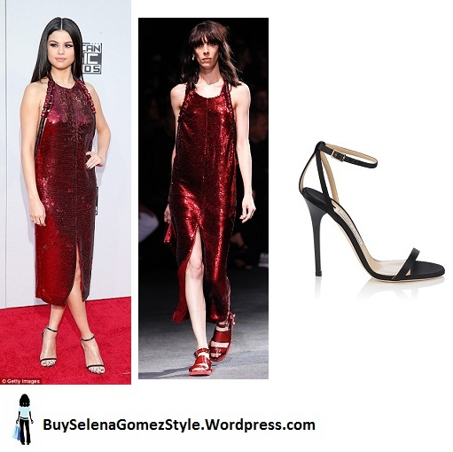 Selena gomez red sequin dress 2015 AMA instagram
