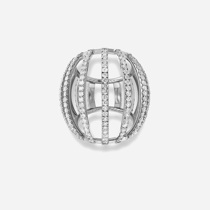 Dauphin white gold white diamonds ring