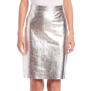 DKNY metalic leather pencil skirt 2