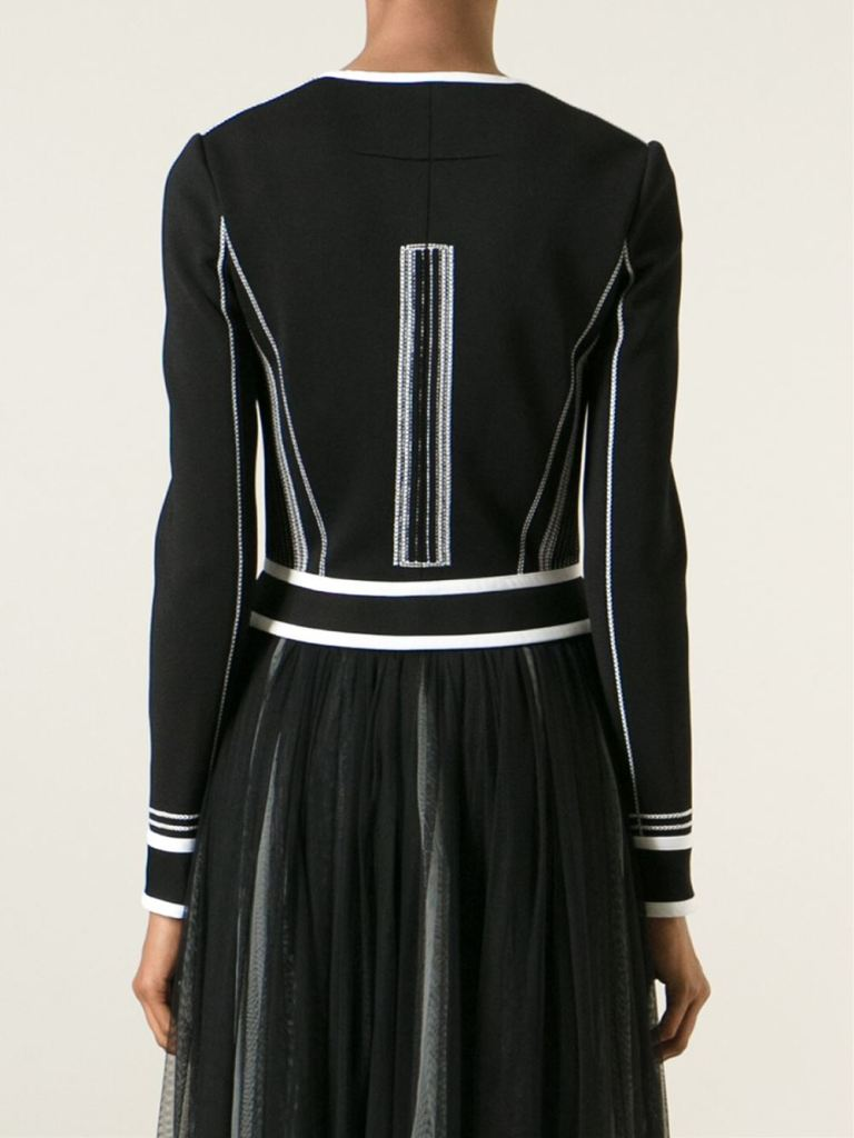 Givenchy black and white corset jacket back view