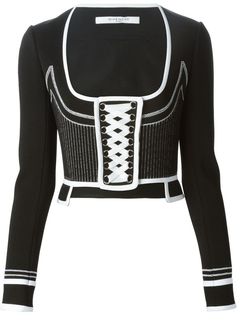 Givenchy black and white corset jacket