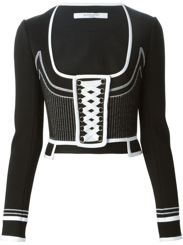 Givenchy black and white corset jacket