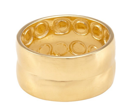 Melinda Maria Hammered Band ring