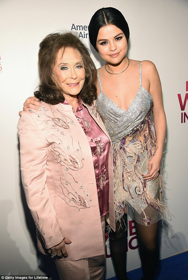 Selena Gomez and Loretta Lynn billboard woemn in music photo Getty Images for Lifetime