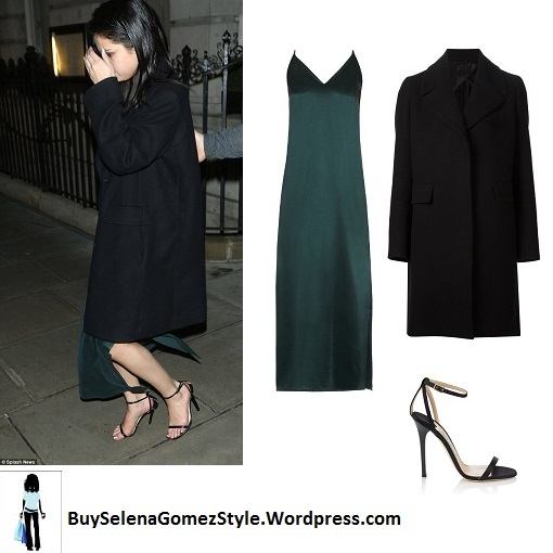 selena-gomez-green-dress-black-coat-niall-horan-london-instagram