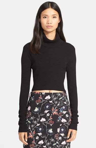 A.L.C 'Milo' Crop Turtleneck Sweater