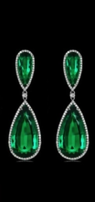 Jacob and co emerald drop earrings