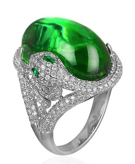 Jacob and co tourmaline snake ring