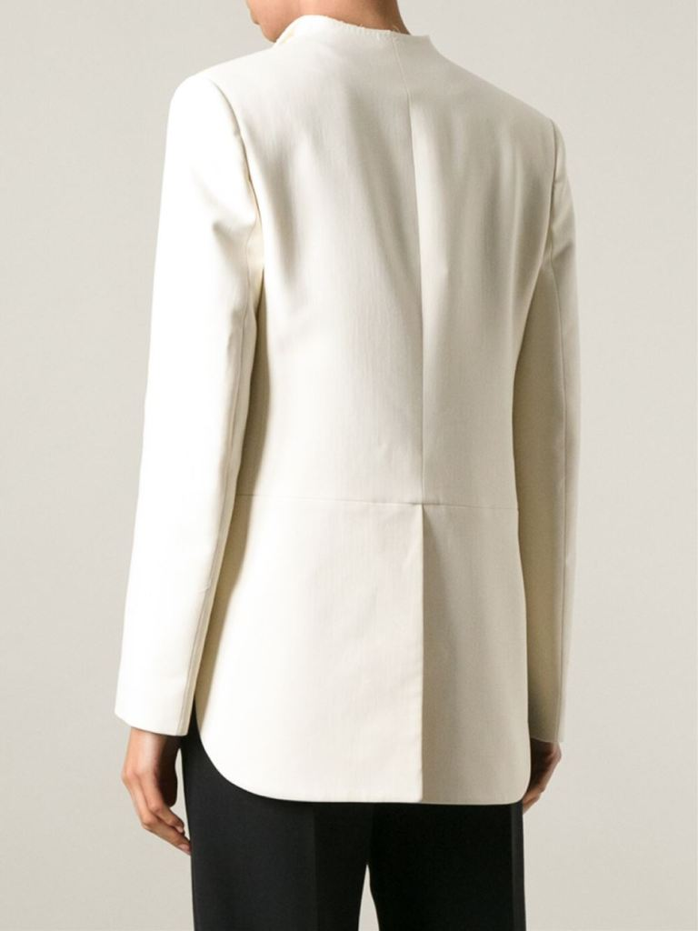 Lanvin off white cropped blazer back view