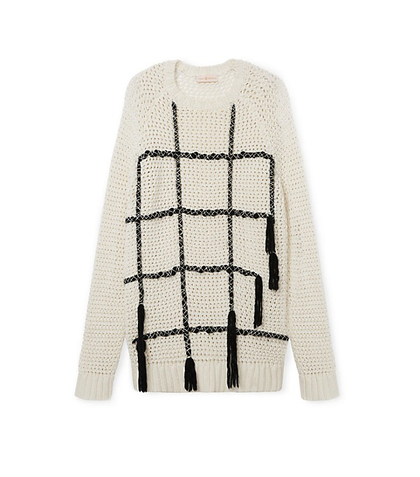 Tory Burch Embroidered Knit pullover