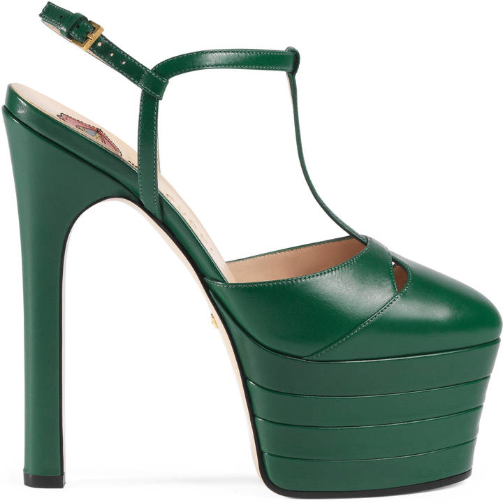 Gucci Leather Platform Pumps