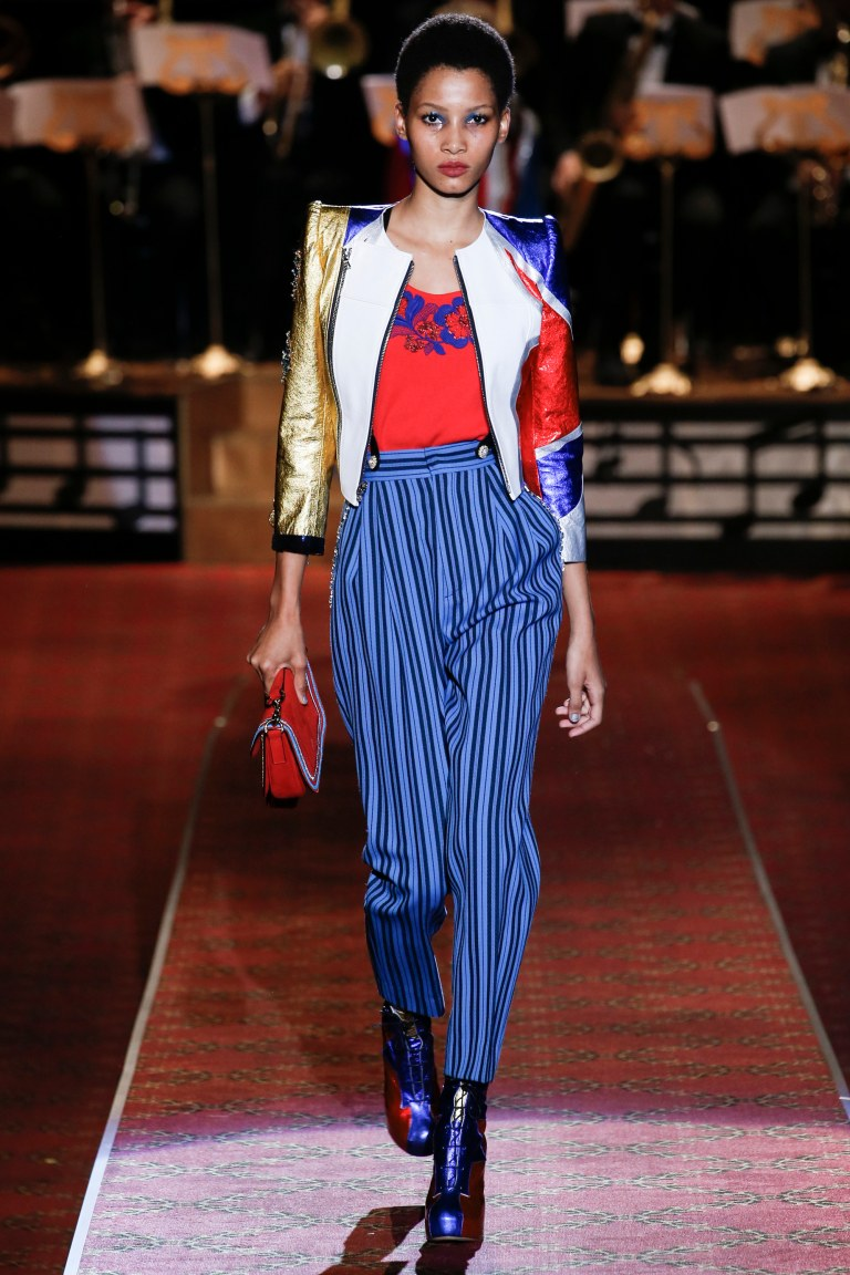 Marc Jacobs spring 2016 red and blue boots