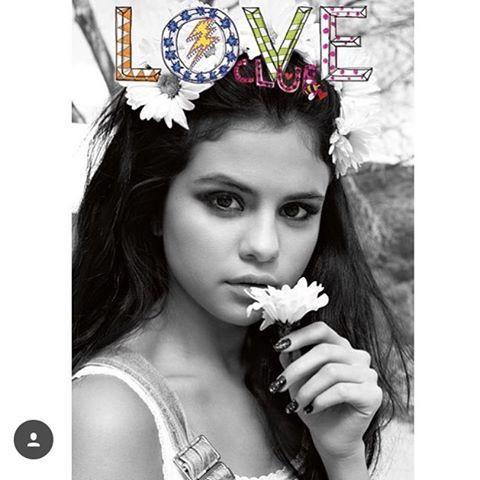 Selena Gomez dungarees LOVe  magazine cover photo Carin backoff