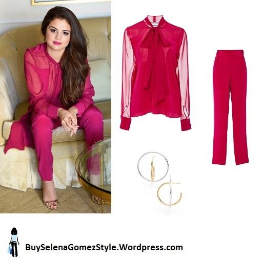 selena-gomez-pink-chiffon-trouser-suit-silver-sandals instagram.jpg