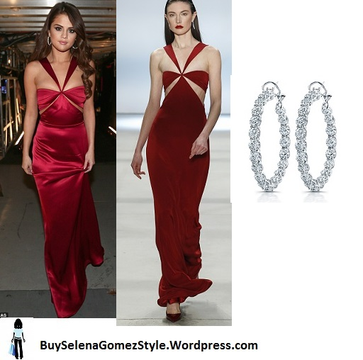 Selena Gomez red satin gown Grammy 2016 instagram