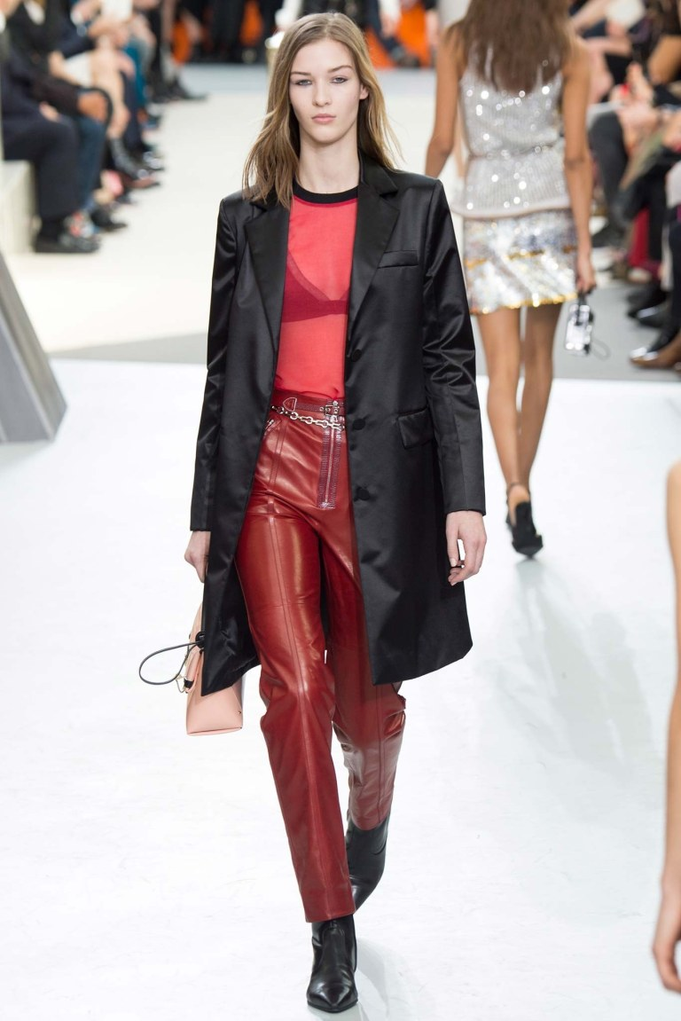 040-louis-vuitton red leather trousers Fall 2015