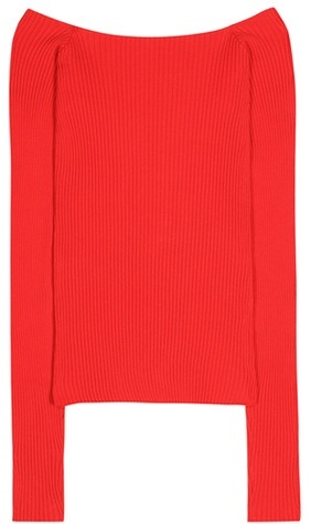 JACQUEMUS LA MAILLE EPAULES NEUES COTTON-BLEND SWEATER