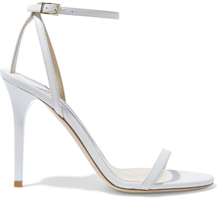 Jimmy Choo 'Minny' Leather Sandals White