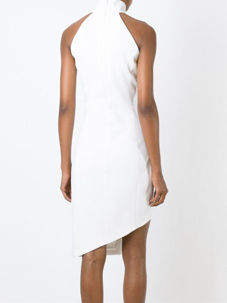 Mugler  Asymmetric Halterneck Dress back