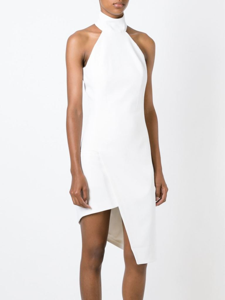 Mugler  Asymmetric Halterneck Dress