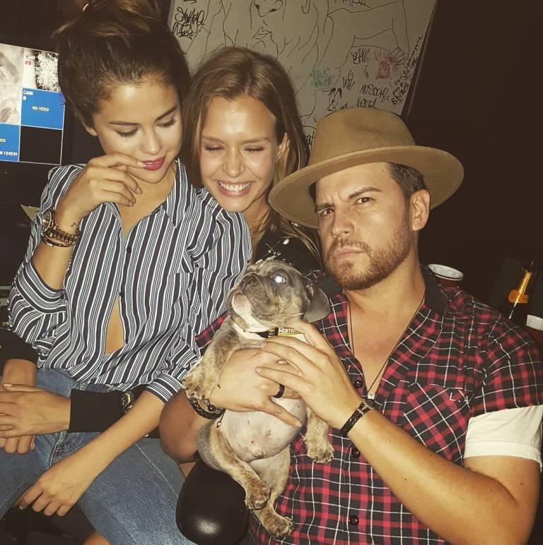 Selena Gomez blue striped shirt photo theamazinglifeofmaxb