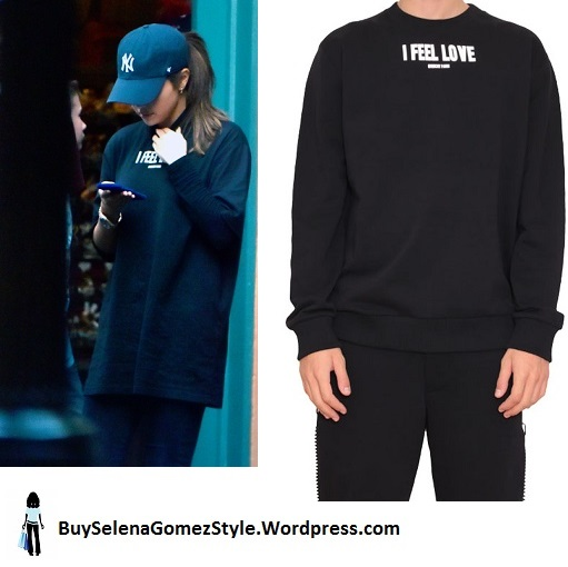 Selena Gomez I Feel Love Sweatshirt Disneyland California instagram