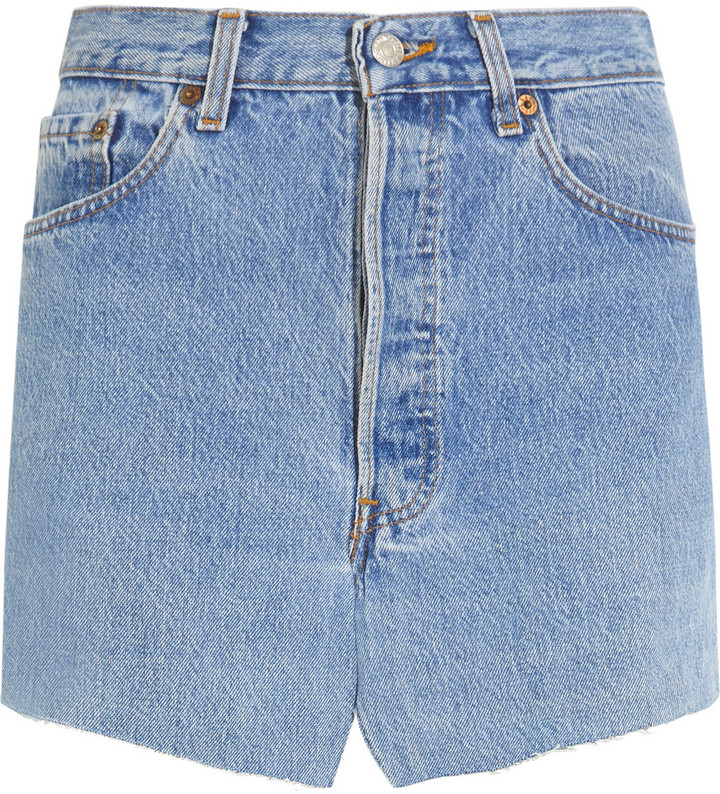 Vetements Denim Mini Skirt