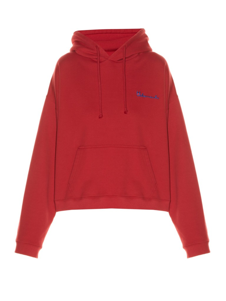 Vetements Hooded Logo Print Sweatshirt