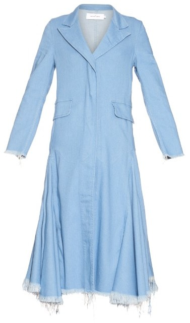 Marques'Almeida Flared Hem Denim Coat