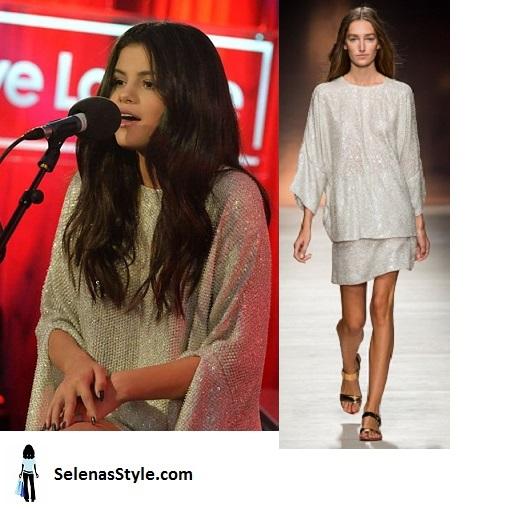 Selena Gomez sequin knit dress BB1 Live Lounge photo BBC instagram