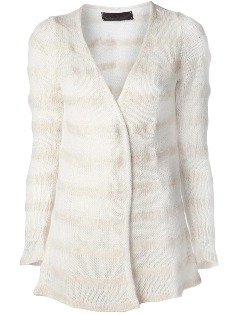 the-elder-statesman-white-cashmere-simple-cardigan