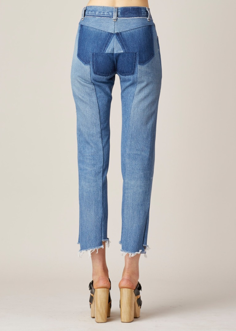 Vetements  Raw Hem High Waisted Jeans back