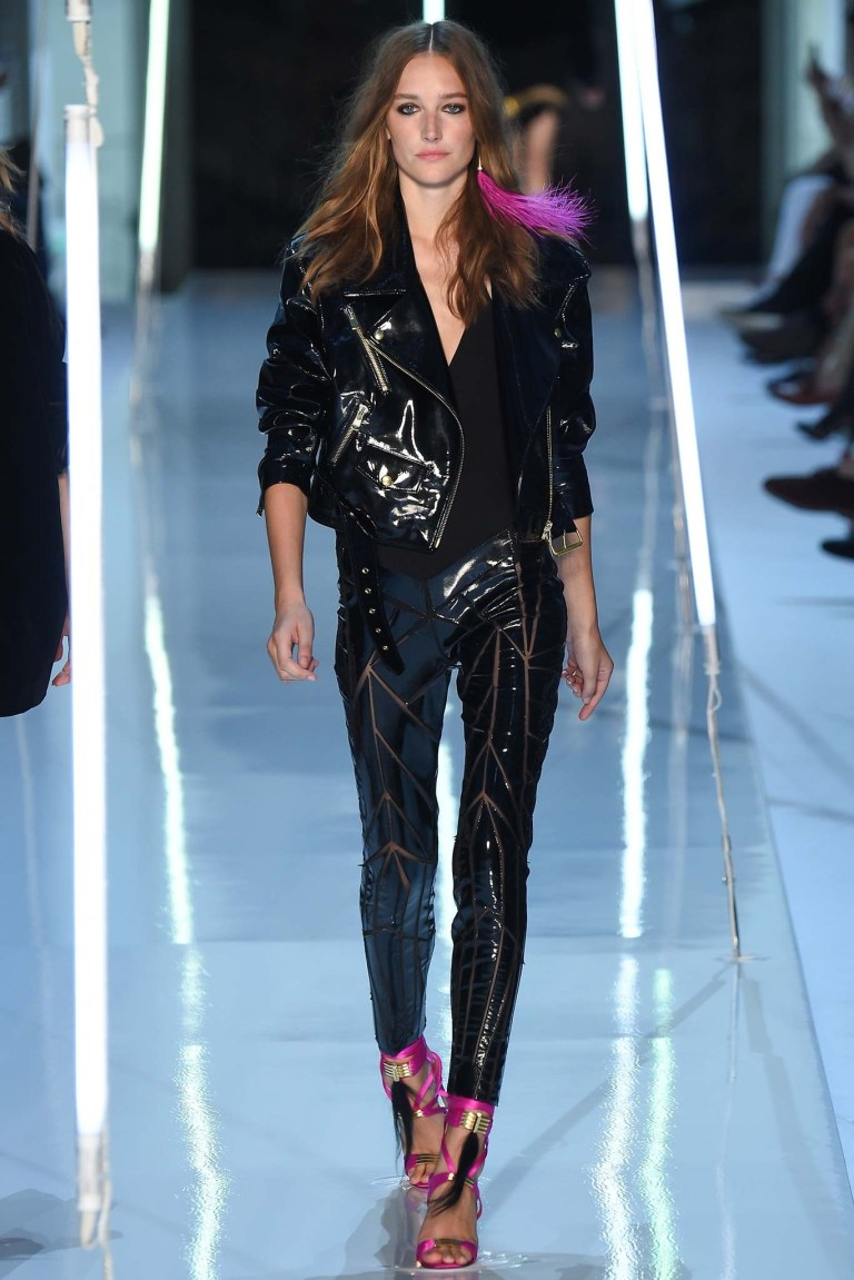 Alexandre Vauthier Patent Leather Patchwork Pants