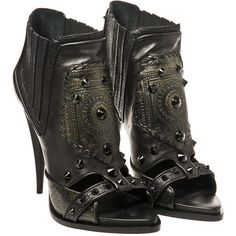 Givenchy Fall 2013 Patchwork studded leather ankle boots