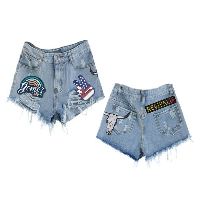 Revival Patches Jean shorts