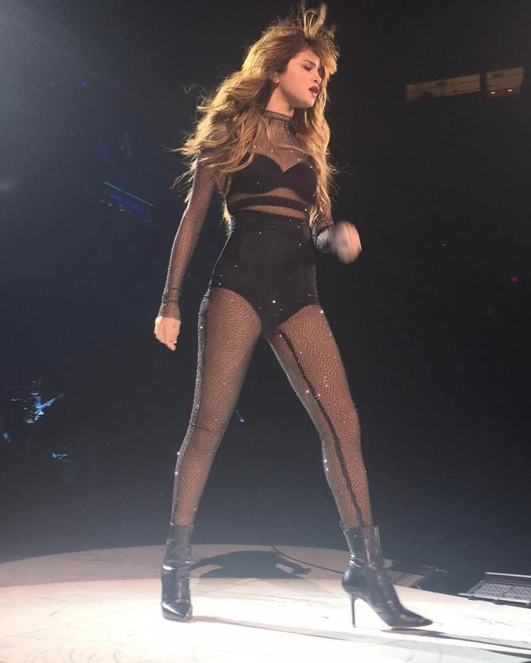 Selena Gomez black catsuit Revival Tour photo allthelovem