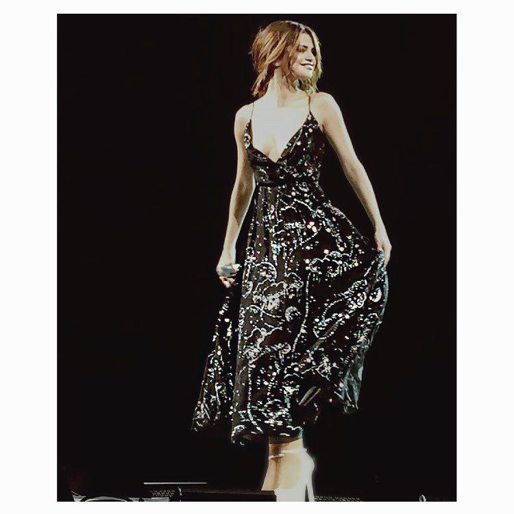 Selena Gomez black sequin dress Revival tour photo Chris Classen