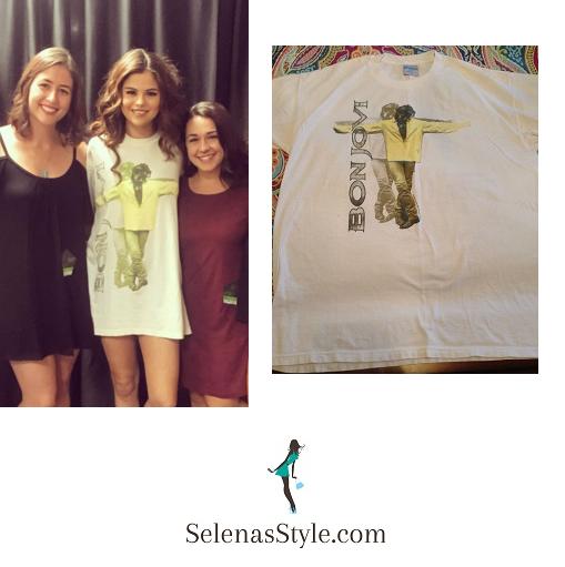 Selena Gomez Bon Jovi t-shirt Fresno meet and greet instagram