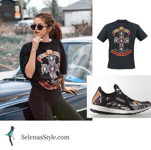 Selena Gomez Gun n Rose Tee Calgary cropped