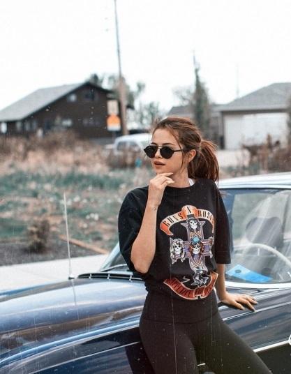 Selena Gomez Gun n Rose Tee Calgary