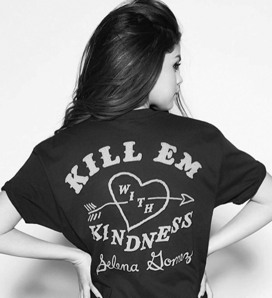 Selena Gomez Kill em with kindness t-shirt