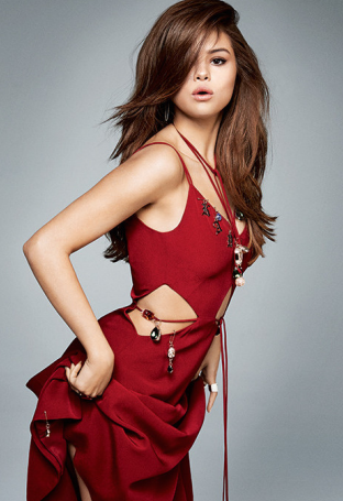 Selena Gomez red dress Marie Claire 2016
