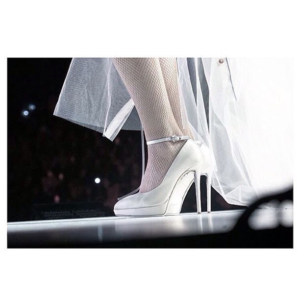 Selena Gomez Revival Tour cream shoes photo instagram Alfy Trill