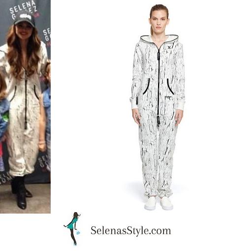 Selena Gomez white jumpsuit Revival Tour