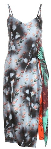 Acne Studios 'Clemente' Printed Silk Dress