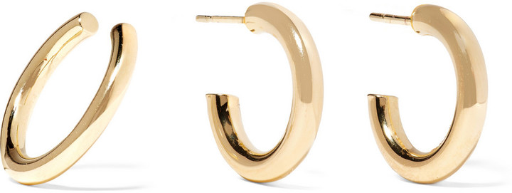 Jennifer Fisher X Net-a-Porter Exclusive Gold Mini Hoop Earrings
