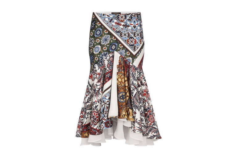 Louis Vuitton Asymetric Printed Skirt