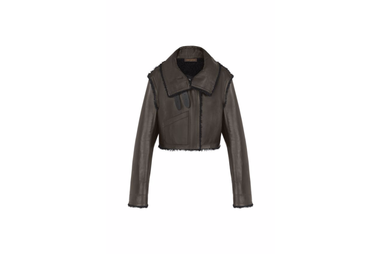 Louis Vuitton Cropped Leather Jacket