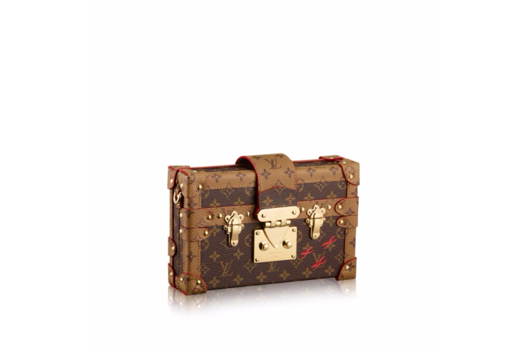 Louis Vuitton Petit Malle in Monogram Reverse Canvas